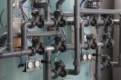 Sistema del filtro de las aguas residuales Imagenes de archivo