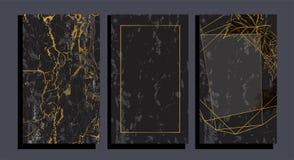 Sistema del folleto elegante, tarjeta, cubierta ilustración del vector