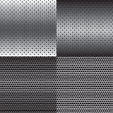 Sistema del fondo de la textura del metal Imagen de archivo libre de regalías