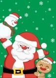 Sistema del fondo de Santa Claus de la Navidad stock de ilustración