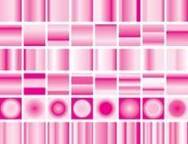 Sistema del fondo del rosa de la pendiente de la tarjeta del día de San Valentín stock de ilustración