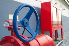 Sistema del fuego de la regadera del agua fotografía de archivo libre de regalías