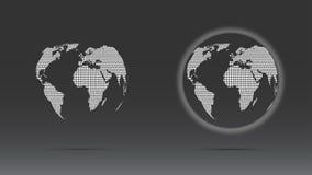 Sistema del globo punteado blanco Foto de archivo libre de regalías