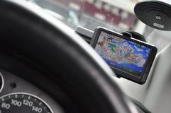 Sistema del GPS del vehículo Imagen de archivo libre de regalías