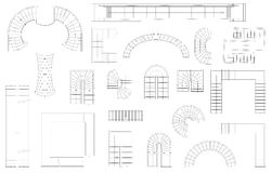 Sistema del gráfico de escaleras en diversas formas Visión superior Ilustración del vector Aislado en el fondo blanco ilustración del vector