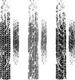 Sistema del grunge de las pistas del neumático Imagen de archivo libre de regalías