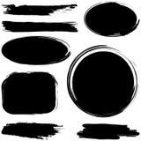 Sistema del grunge de los movimientos del cepillo de la tinta libre illustration