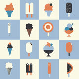 Sistema del helado Imágenes de archivo libres de regalías