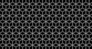 sistema del hexágono 4k de la animación de 3 del fondo vídeos del modelo en Alpha Channel blanco y negro