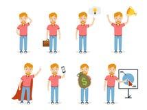 Sistema del hombre de negocios Imagen de archivo