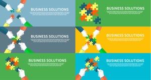 Sistema del hombre de negocios Assembling Jigsaw Puzzle Libre Illustration