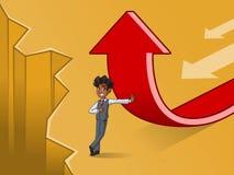 Sistema del hombre de negocios en cambio del chaleco de un concepto de la dirección stock de ilustración