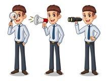 Sistema del hombre de negocios en la camisa que busca actitudes libre illustration