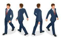 Sistema del hombre de negocios Man en el fondo blanco Actitudes isométricas del carácter Gente de la historieta Cree su propio di Imagen de archivo libre de regalías