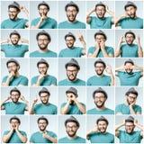 Sistema del hombre emocional hermoso fotografía de archivo