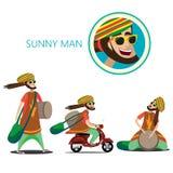 Sistema del hombre soleado stock de ilustración