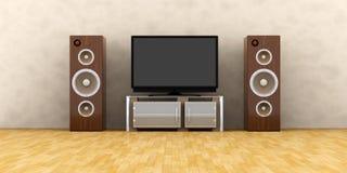 Sistema del home entertainment Imagen de archivo libre de regalías