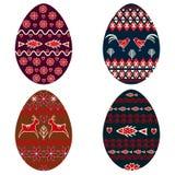 Sistema del huevo de Pascua stock de ilustración