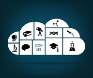 Sistema del icono Fotografía de archivo