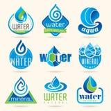 Sistema del icono del agua imagen de archivo libre de regalías