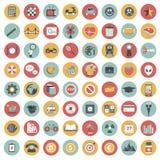 Sistema del icono del App Iconos para los sitios web y las aplicaciones móviles plano ilustración del vector