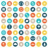 Sistema del icono del App Iconos para los sitios web y las aplicaciones móviles Vector plano ilustración del vector