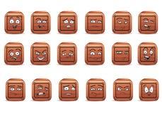 Sistema del icono del avatar de la caja en aislado Imagenes de archivo