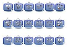 Sistema del icono del avatar de la muestra del tablero Fotografía de archivo