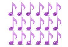 Sistema del icono del avatar de la nota de la música Imágenes de archivo libres de regalías