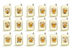 Sistema del icono del avatar del teléfono de la mano Imágenes de archivo libres de regalías