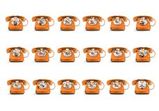 Sistema del icono del avatar del teléfono en aislado Imagenes de archivo