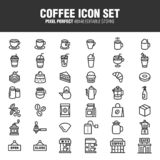 Sistema del icono del café libre illustration