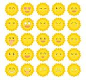 Sistema del icono del carácter· Sol lindo stock de ilustración