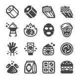 Sistema del icono del carbón de leña libre illustration