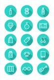 Sistema del icono componga y de las compras Foto de archivo libre de regalías