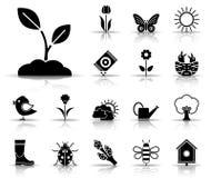 Sistema del icono del cuerpo de bomberos stock de ilustración