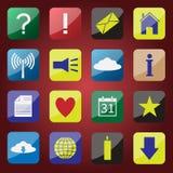 Sistema del icono de Apps Fotografía de archivo