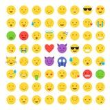 Sistema del icono de Emoji stock de ilustración