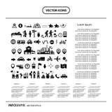 Sistema del icono de explorador del viajero Imagen de archivo libre de regalías