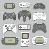 Sistema del icono de Gamepad Foto de archivo libre de regalías