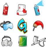 Sistema del icono de Graffitti Fotos de archivo libres de regalías