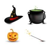 Sistema del icono de Halloween Foto de archivo
