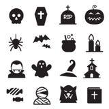 Sistema del icono de Halloween Foto de archivo libre de regalías