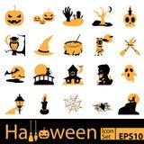 Sistema del icono de Halloween, vector Fotos de archivo