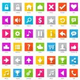 Sistema del icono de Internet del web del teléfono Fotografía de archivo