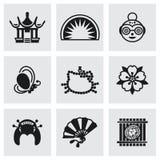 Sistema del icono de Japón del vector Foto de archivo