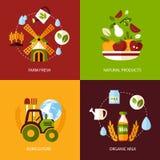 Sistema del icono de la agricultura ilustración del vector