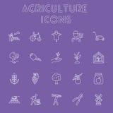 Sistema del icono de la agricultura Imagen de archivo libre de regalías