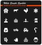 Sistema del icono de la agricultura Imágenes de archivo libres de regalías
