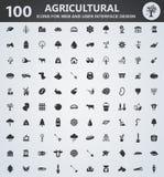 Sistema del icono de la agricultura Fotografía de archivo libre de regalías